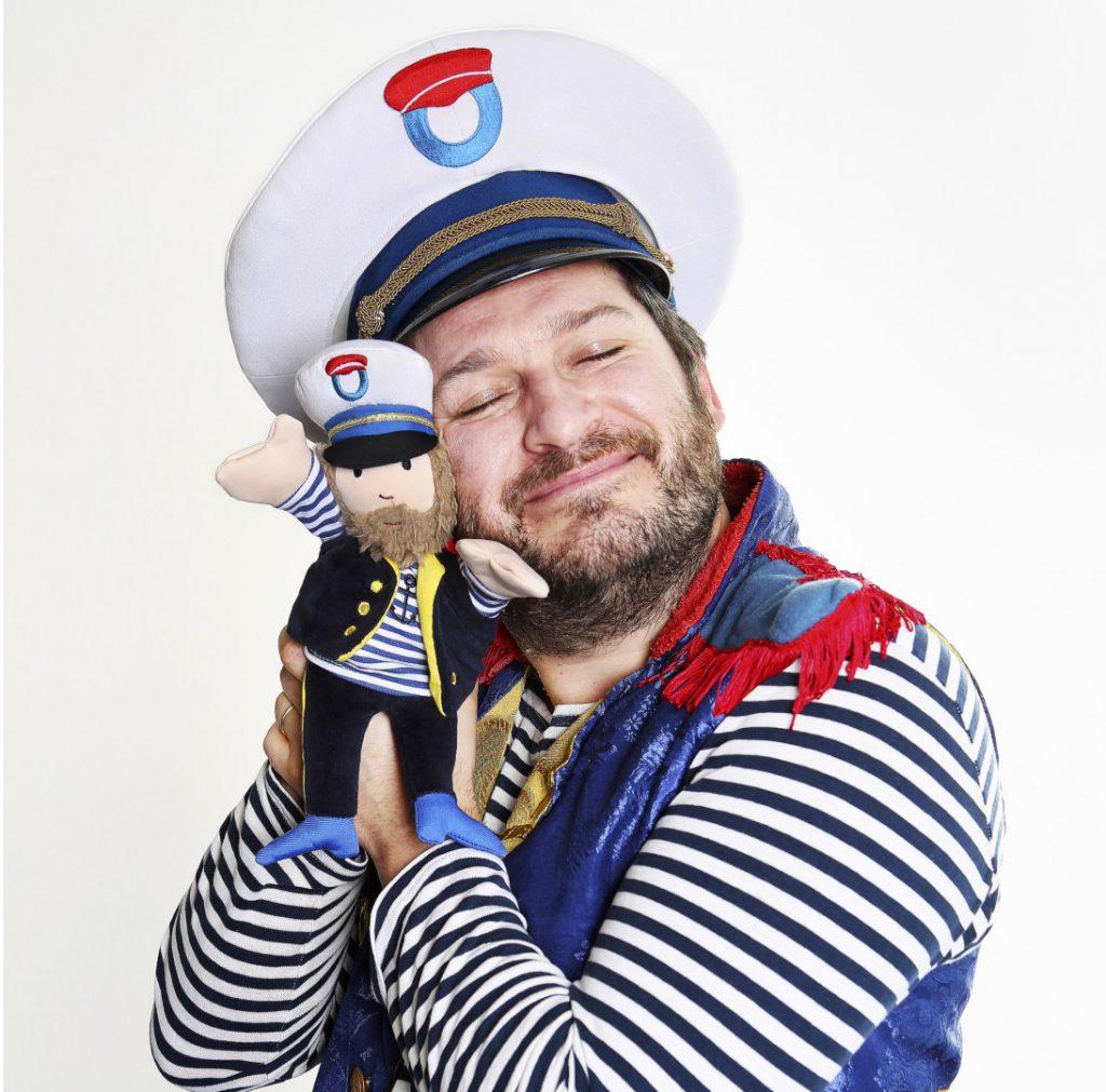 Kapitein Winokio met knuffelhandpop